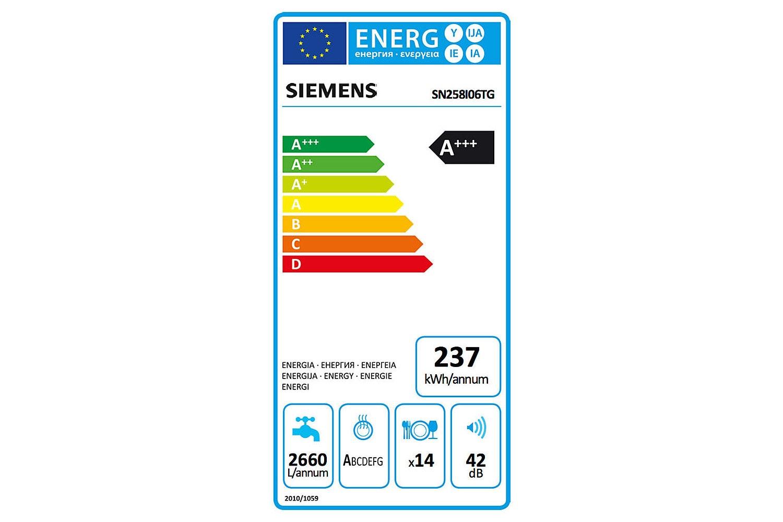 Siemens Freestanding Dishwasher | 14 Place | SN258i06TG
