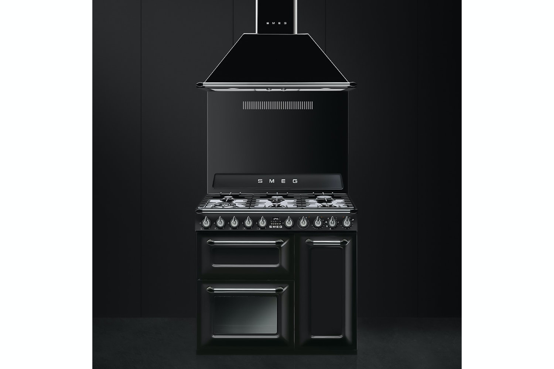Smeg 90cm Dual Fuel Range Cooker   Black