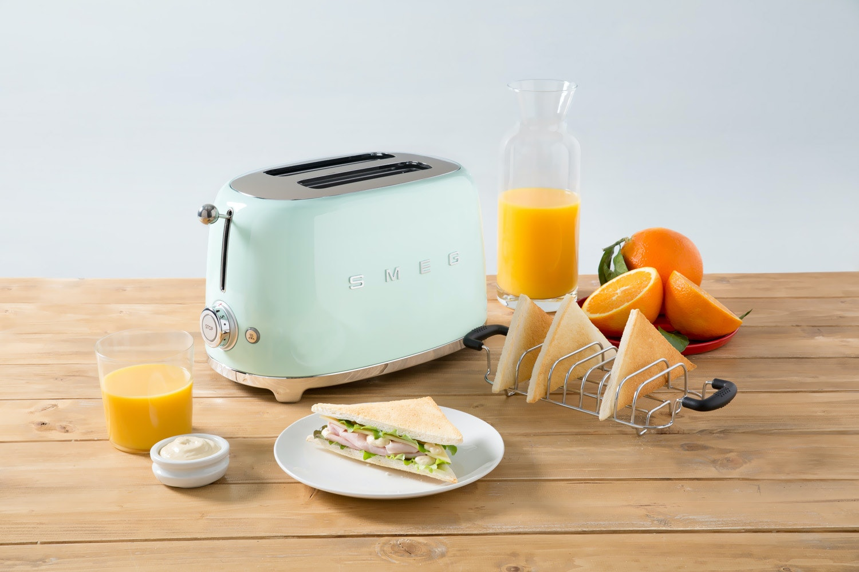Smeg Retro 2 Slice Toaster | TSF01PGUK | Pastel Green