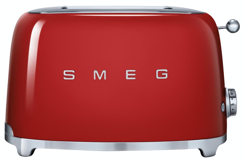 Smeg Retro 2 Slice Toaster | TSF01RDUK | Red