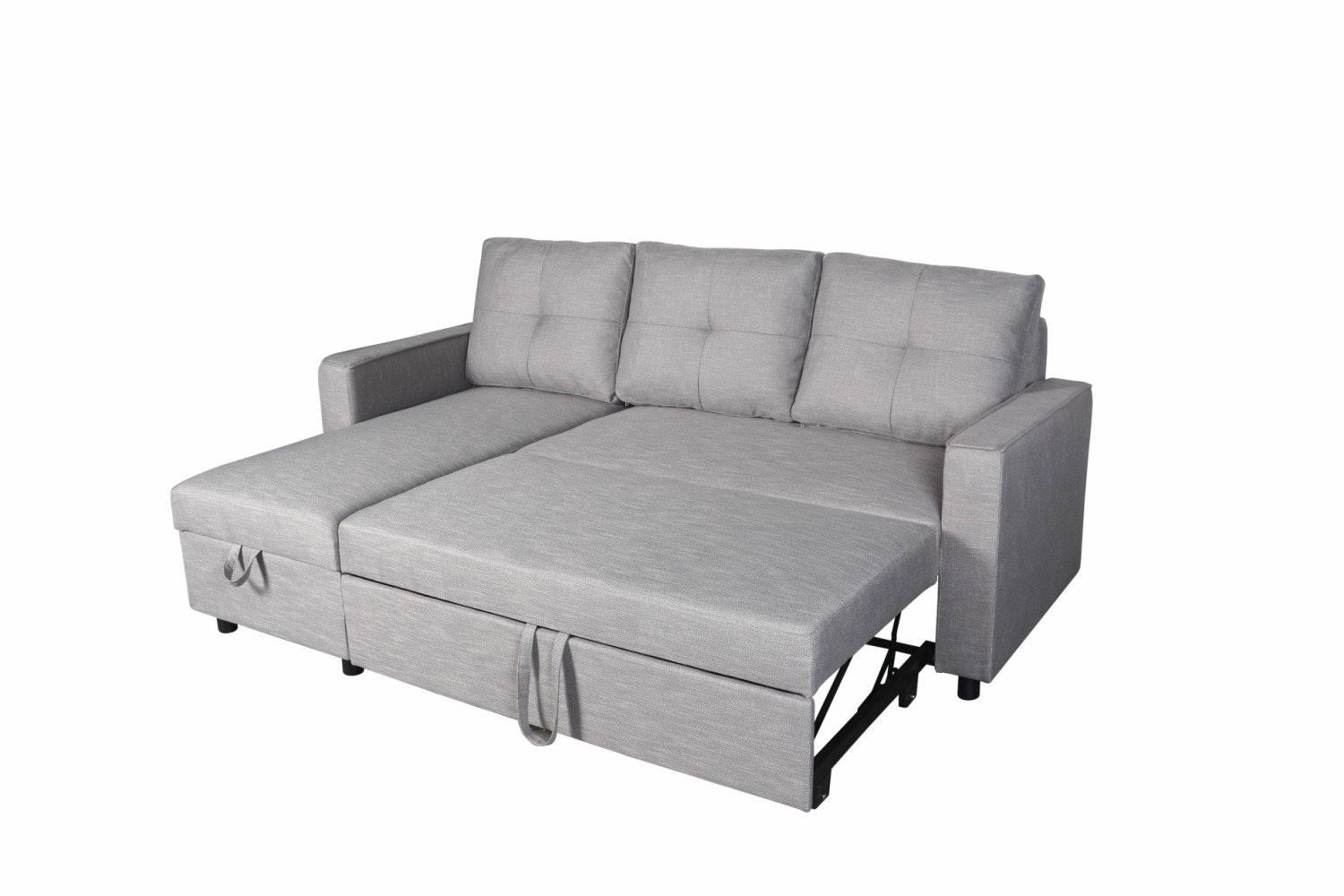 Brady Chaise Sofa with Storage | Grey