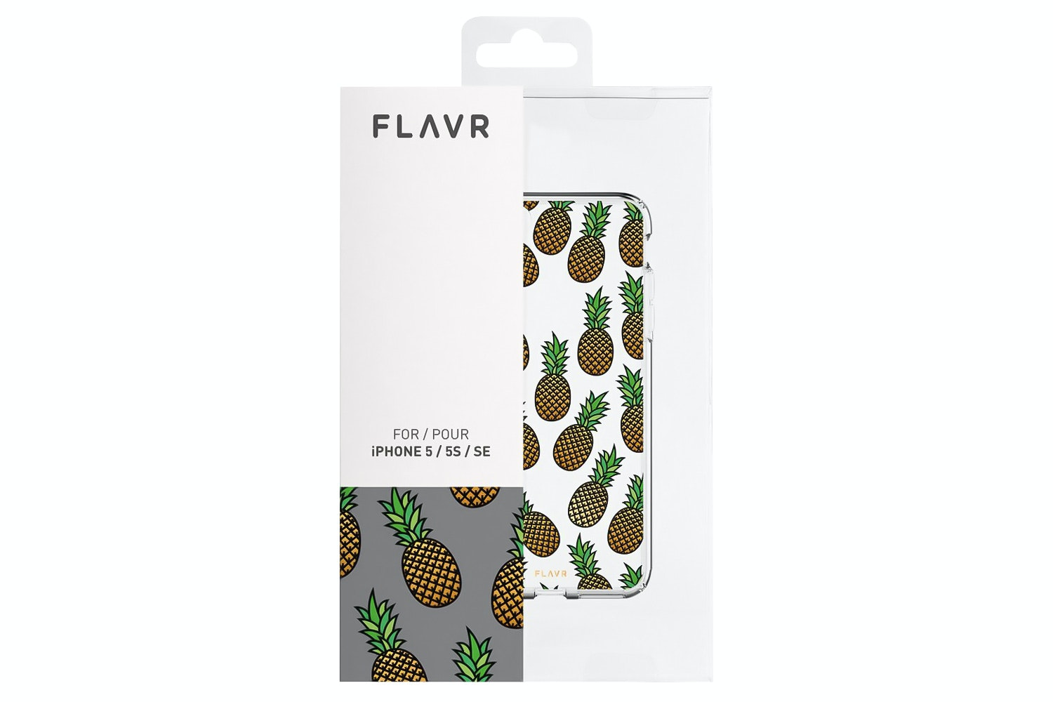 Flavr iPlate Pineapples for iPhone 5/5S/SE | Transparent