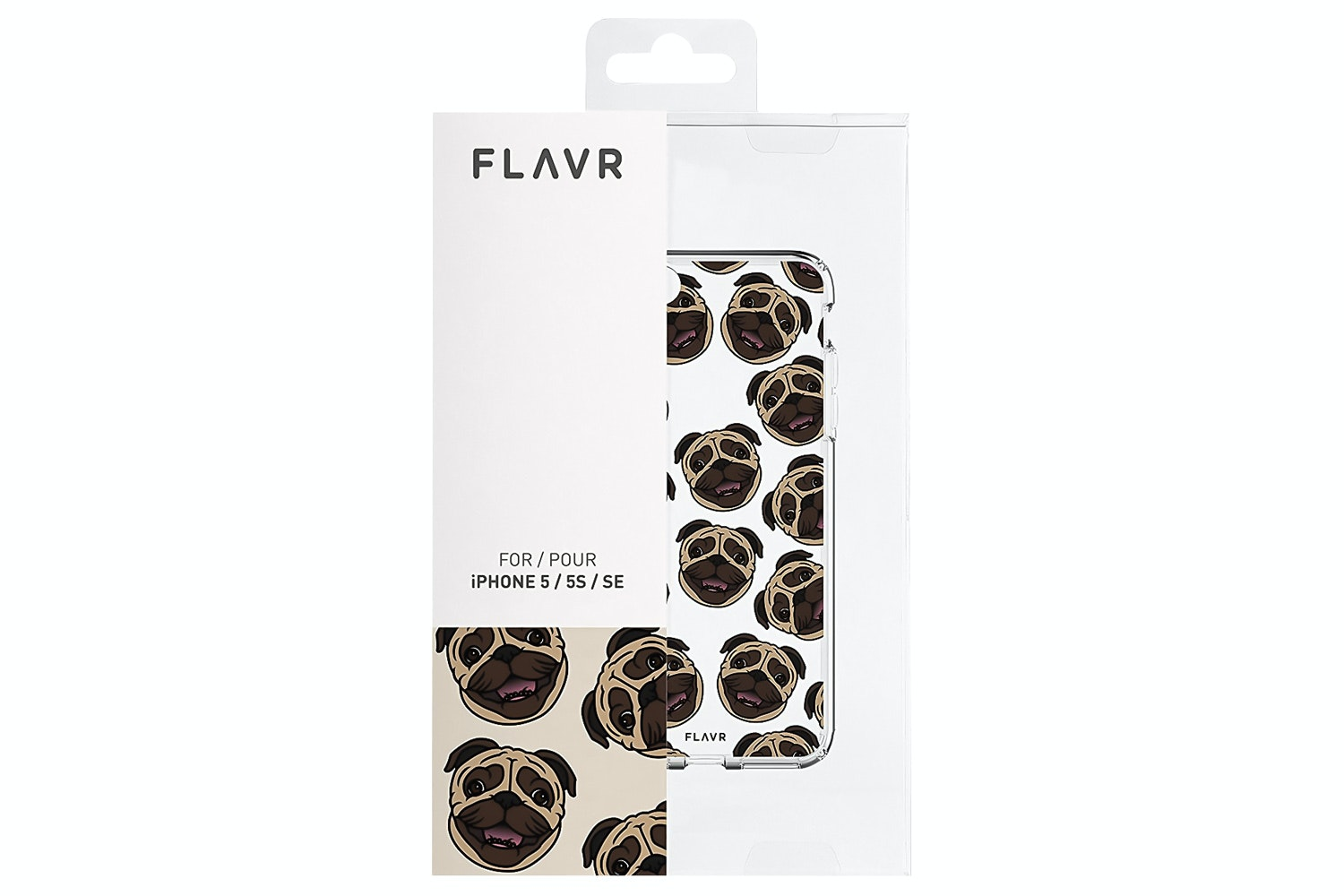 Flavr iPlate Pugs for iPhone 5/5S/SE | Transparent