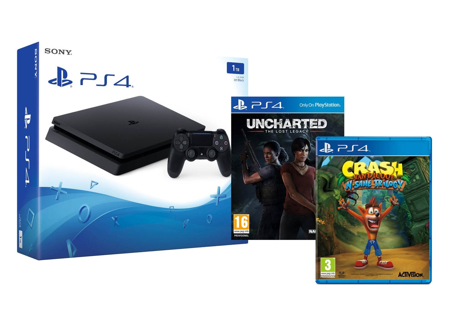 PS4 1TB | Uncharted: Lost Legacy & Crash Bandicoot N.Sane Trilogy