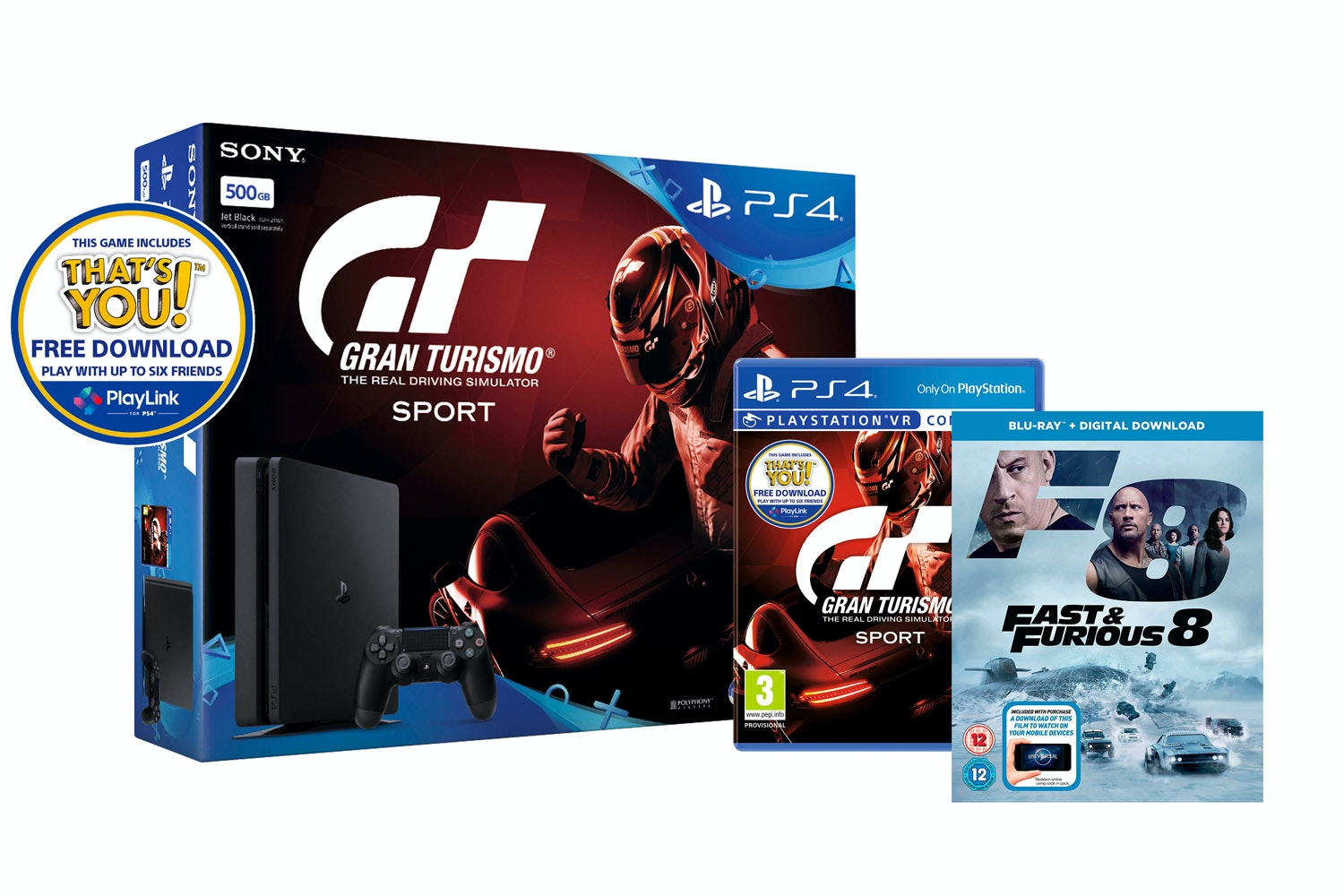 PS4 500GB | Gran Turismo Sport & Fast And Furious 8