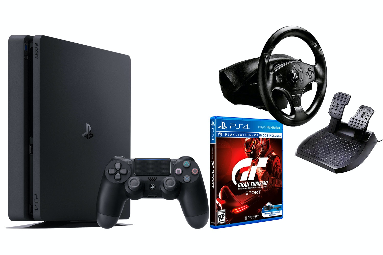 PS4 500GB   Gran Turismo Sport & T80 Steering Wheel