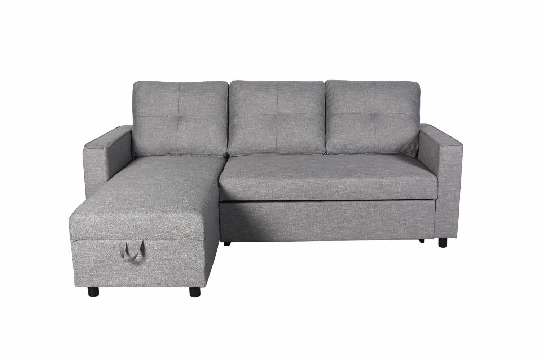 Brady Chaise Sofa with Storage | Grey