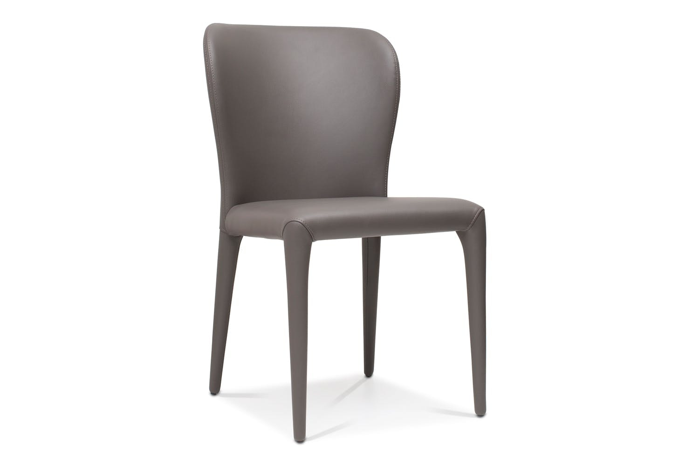 Callisto Dining Table Dark with 4 Aletta Chairs   Dark Grey