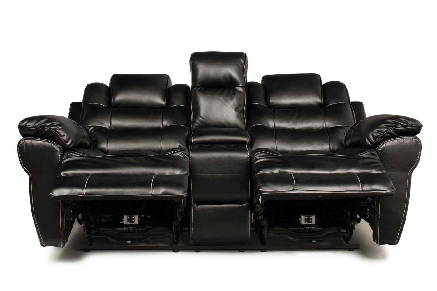 Baxter 2 Seater Electric Recliner with Console | Black