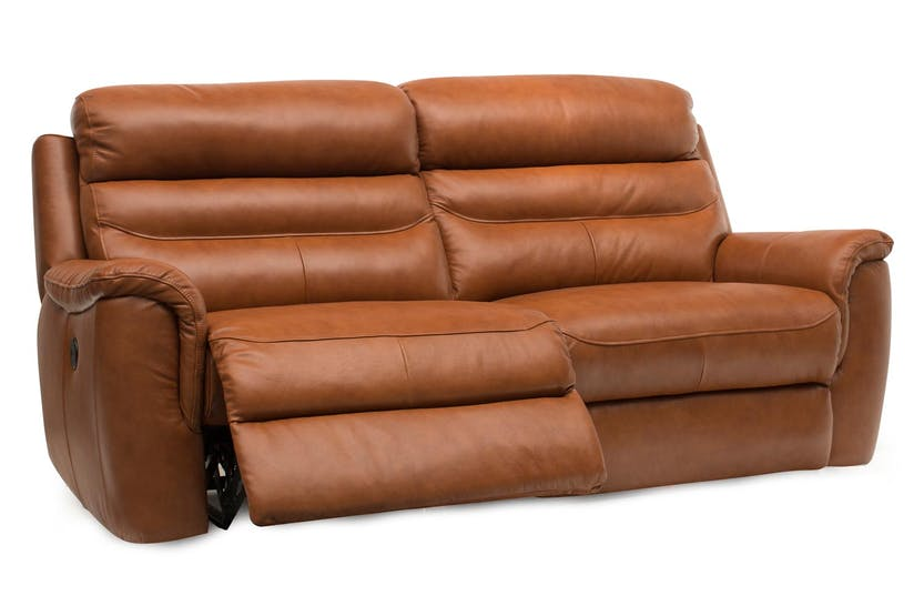 Bayle 3 Seater Leather Recliner Sofa | Ireland