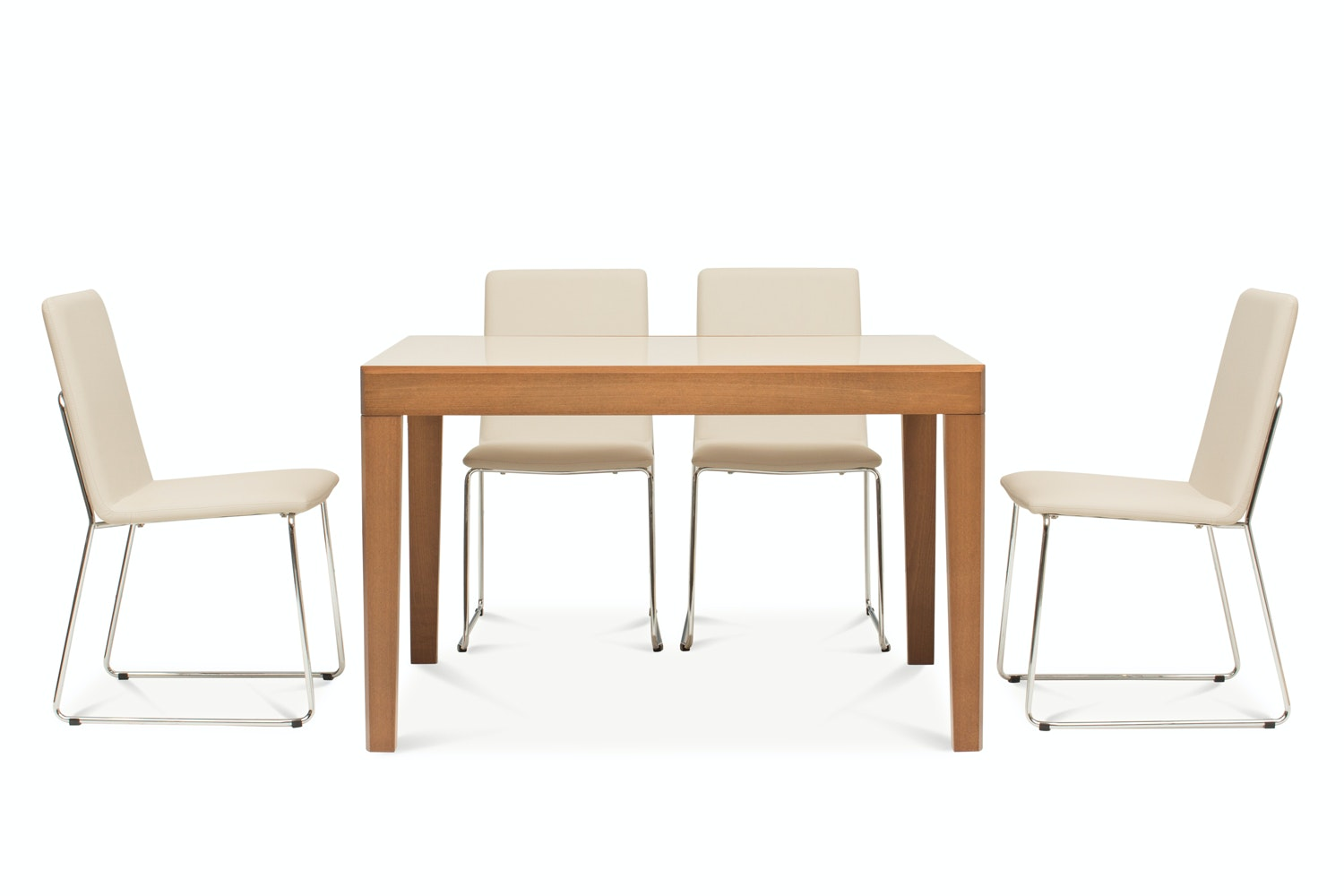 Asso Dining Table with 4 Luna Chairs | Sand