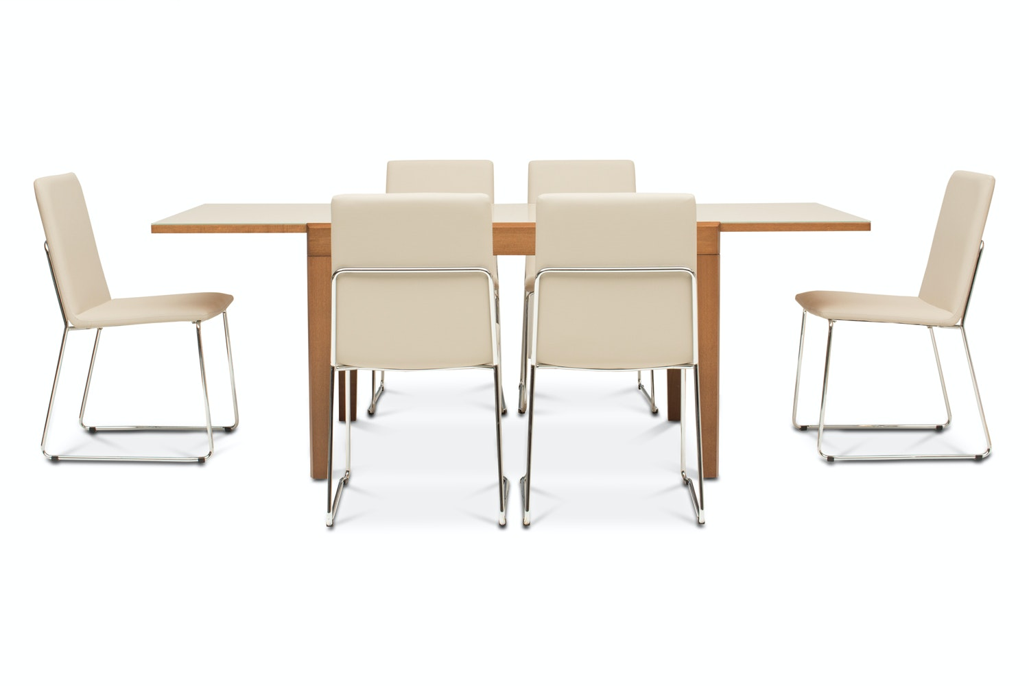 Asso Dining Table with 6 Luna Chairs | Sand