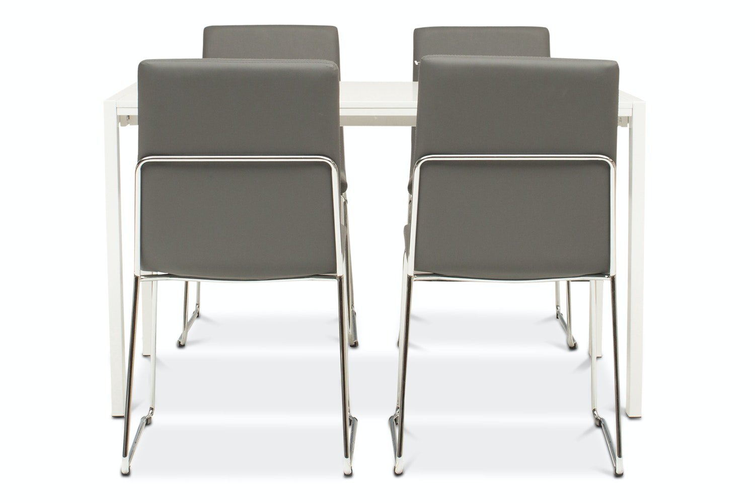 Bristol Dining Table with 4 Luna Chairs | Grey