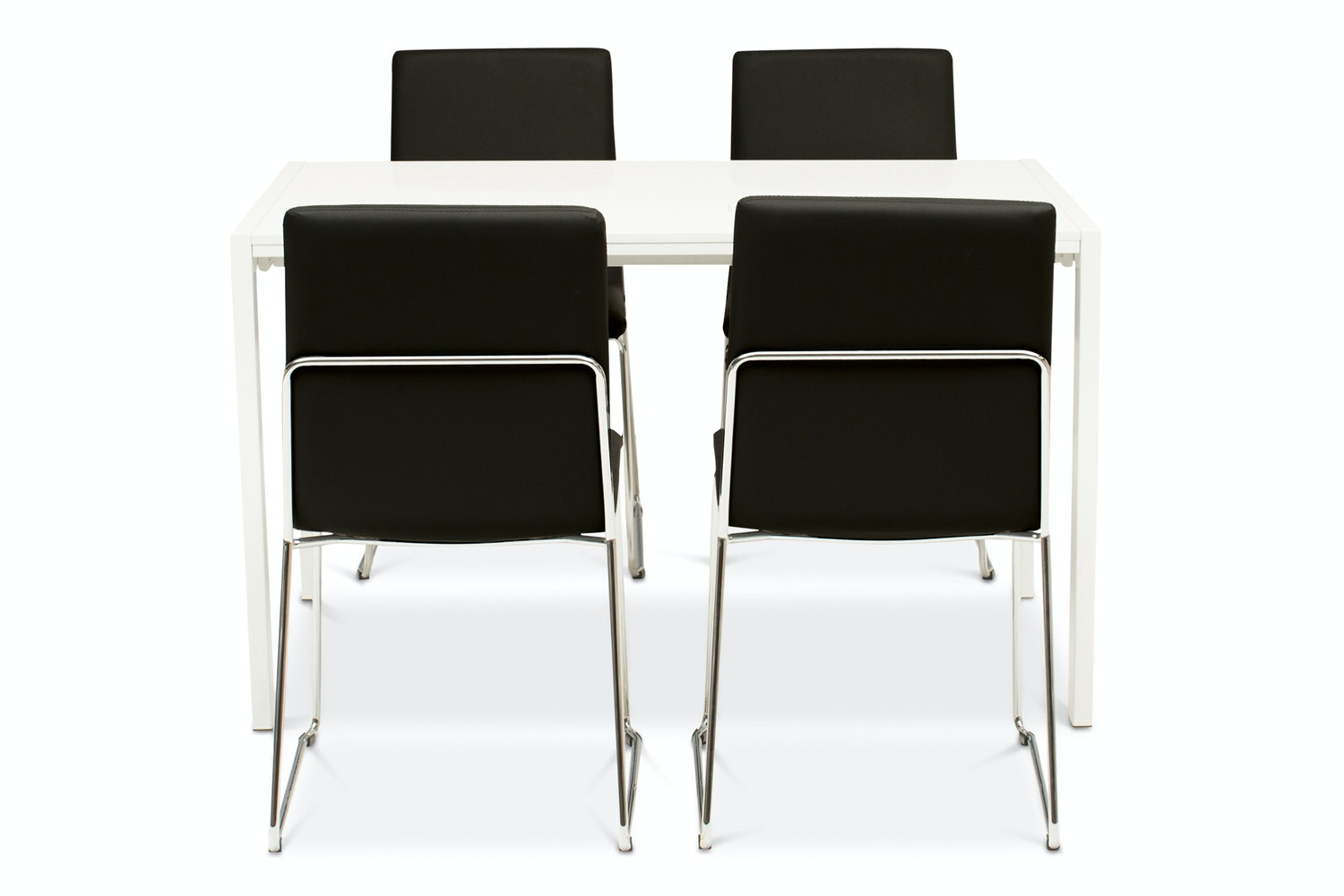 Bristol Dining Table with 4 Luna Chairs | Black