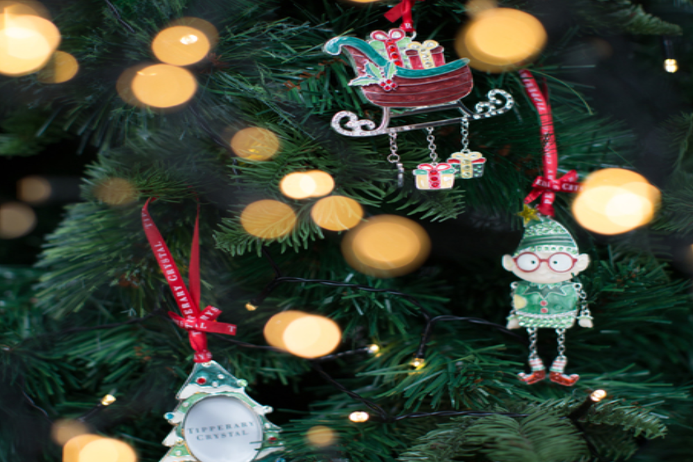 Tipperary Crystal Sparkle Christmas Tree Frame