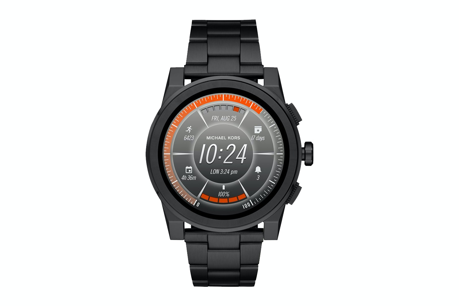 Michael Kors Grayson Black-Tone Smartwatch
