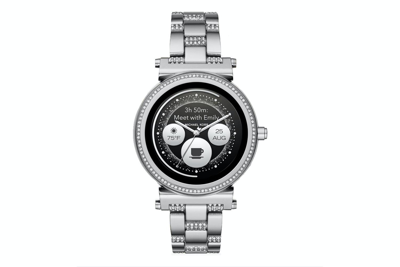 Michael Kors Sofie Pavé Silver-Tone Smartwatch