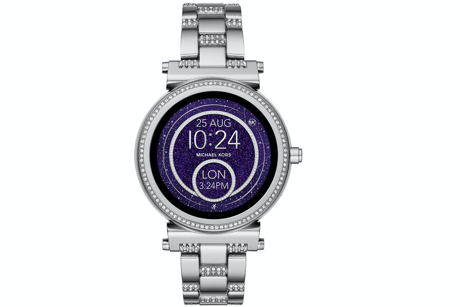 michael kors sofie pav silver tone smartwatch ireland. Black Bedroom Furniture Sets. Home Design Ideas
