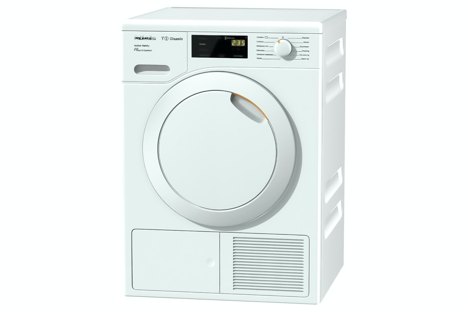 Miele TDD220WP Active Family  T1 Classic heat-pump tumble dryer   A++ and 1–8 kg capacity for high efficiency at an attractive entry-level price