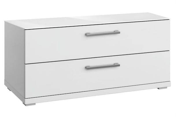 Saal 2 Drawer Chest | Alpine & Glass White