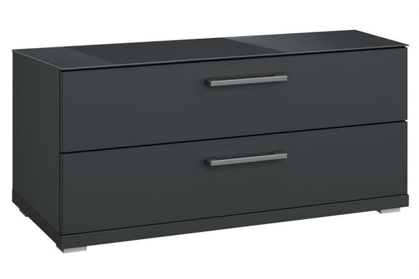 Saal 2 Drawer Chest | Metallic & Glass Basalt
