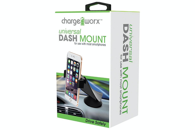 Chargeworx Car Dash Mount | Black