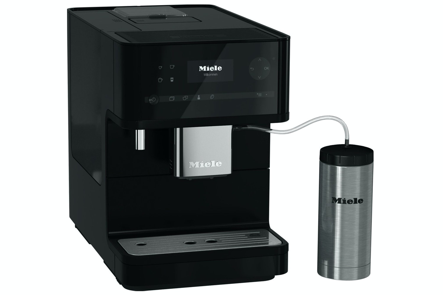 Miele CM 6350  Countertop coffee machine   with OneTouch for Two feature and heated cup rack for perfect coffee