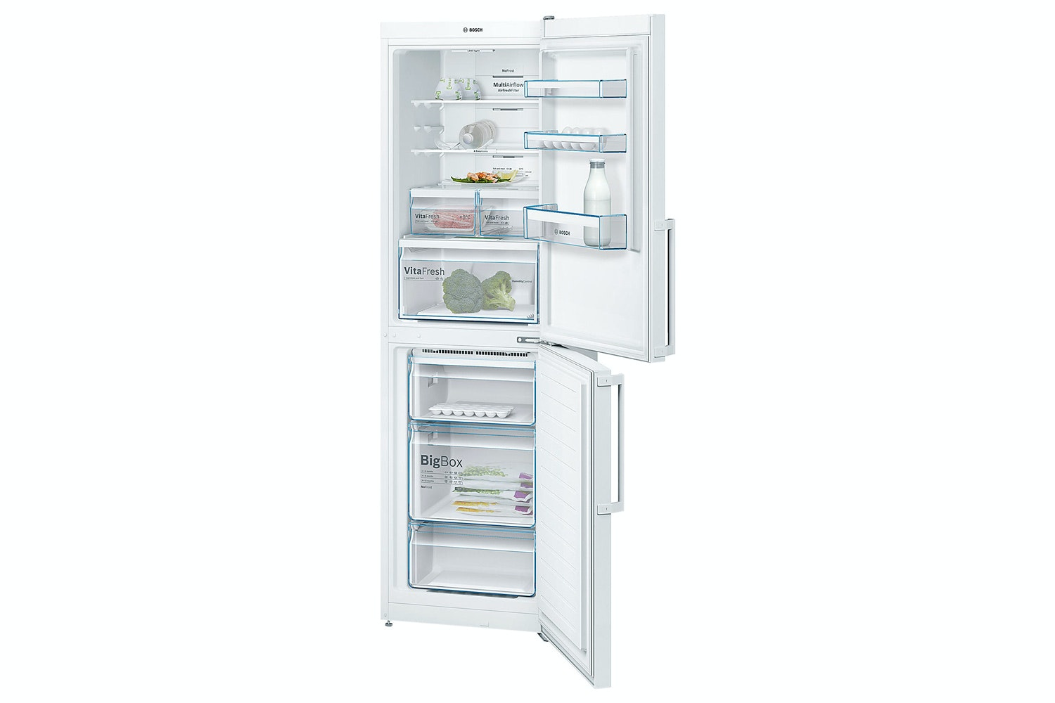 Bosch Serie 4 Freestanding Fridge Freezer | KGN34XW35G