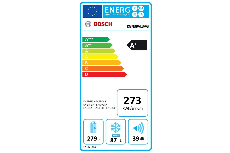 Bosch Series 4 Freestanding Fridge Freezer   KGN39VL3AG