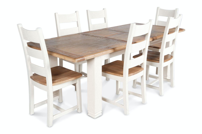 Queenstown 7 Piece Dining Set | White