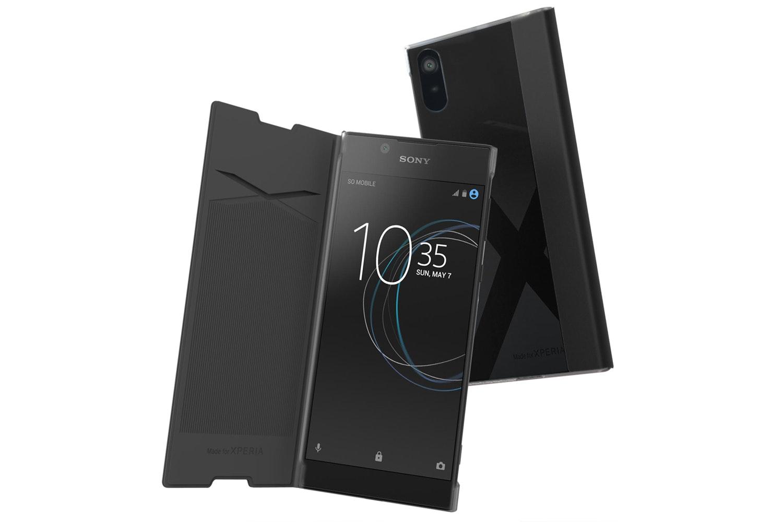Muvit Sony Xperia L1 Folio Case   Black