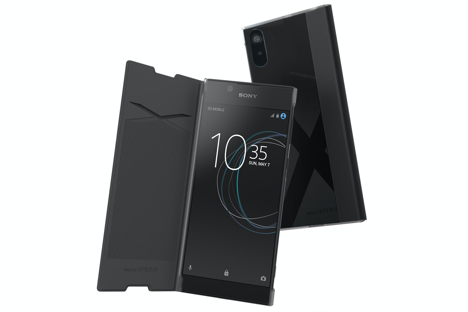 Muvit Sony Xperia L1 Folio Case | Black