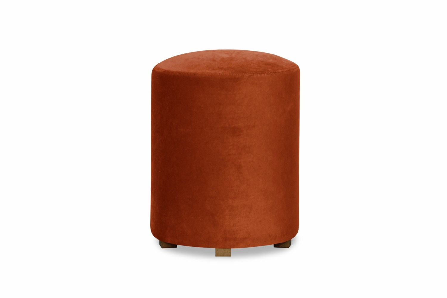 Pufa Bedroom Round Stool | Orange