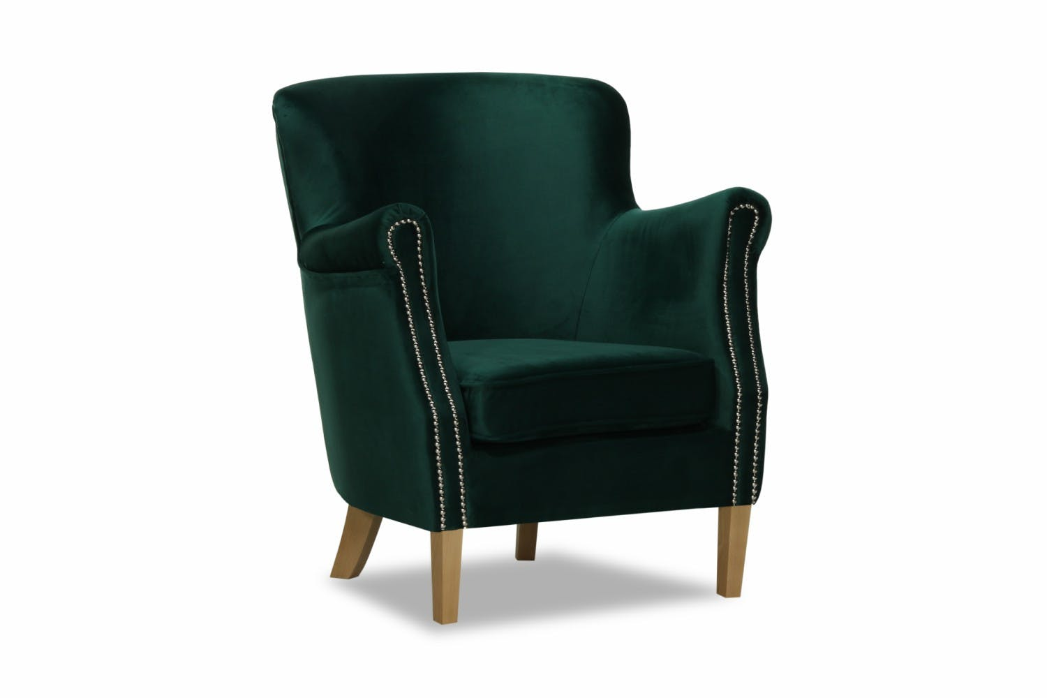Lincoln bedroom chair arm velvet green ireland for Small bedroom chairs with arms