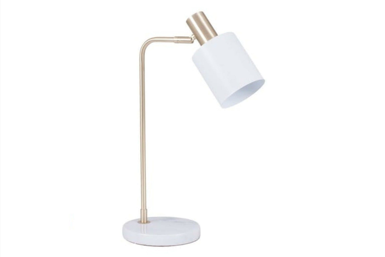 Marble White U0026 Gold Table Lamp