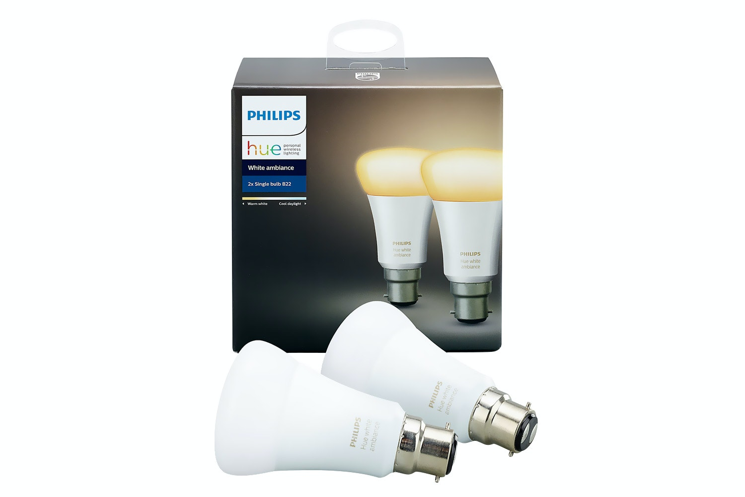Philips Hue White Ambiance B22 Twin Pack