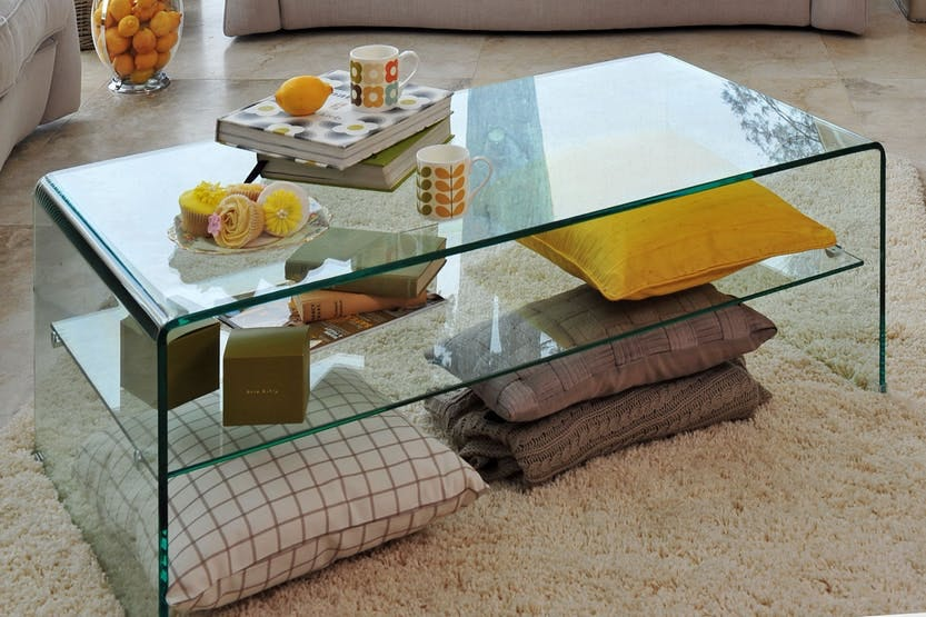 Space Coffee Table with Shelf