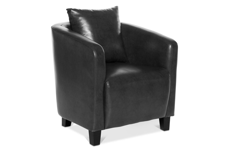 Norfolk Bedroom Chair | Slate Grey Faux Leather