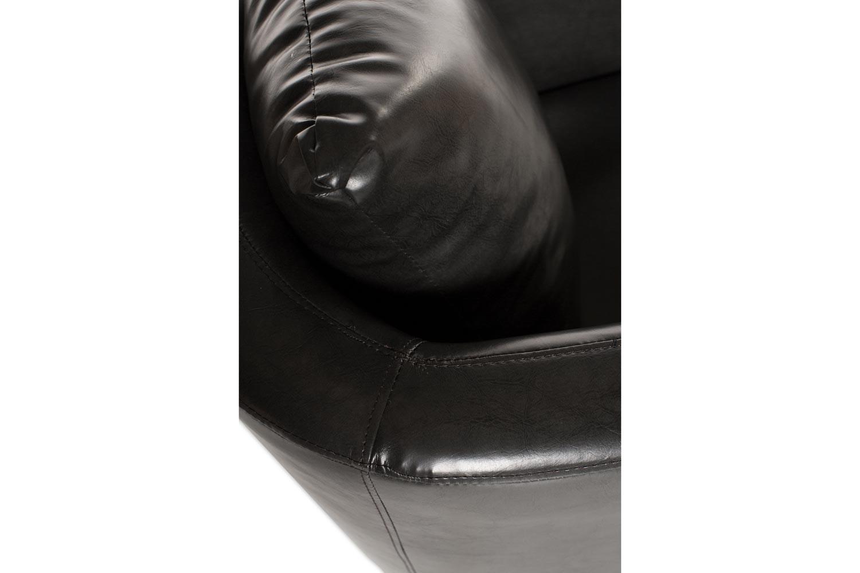 Norfolk Bedroom Chair   Slate Grey Faux Leather