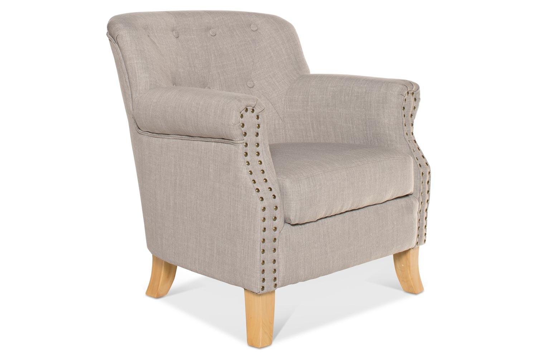 Durham Bedroom Chair | Grey Fabric