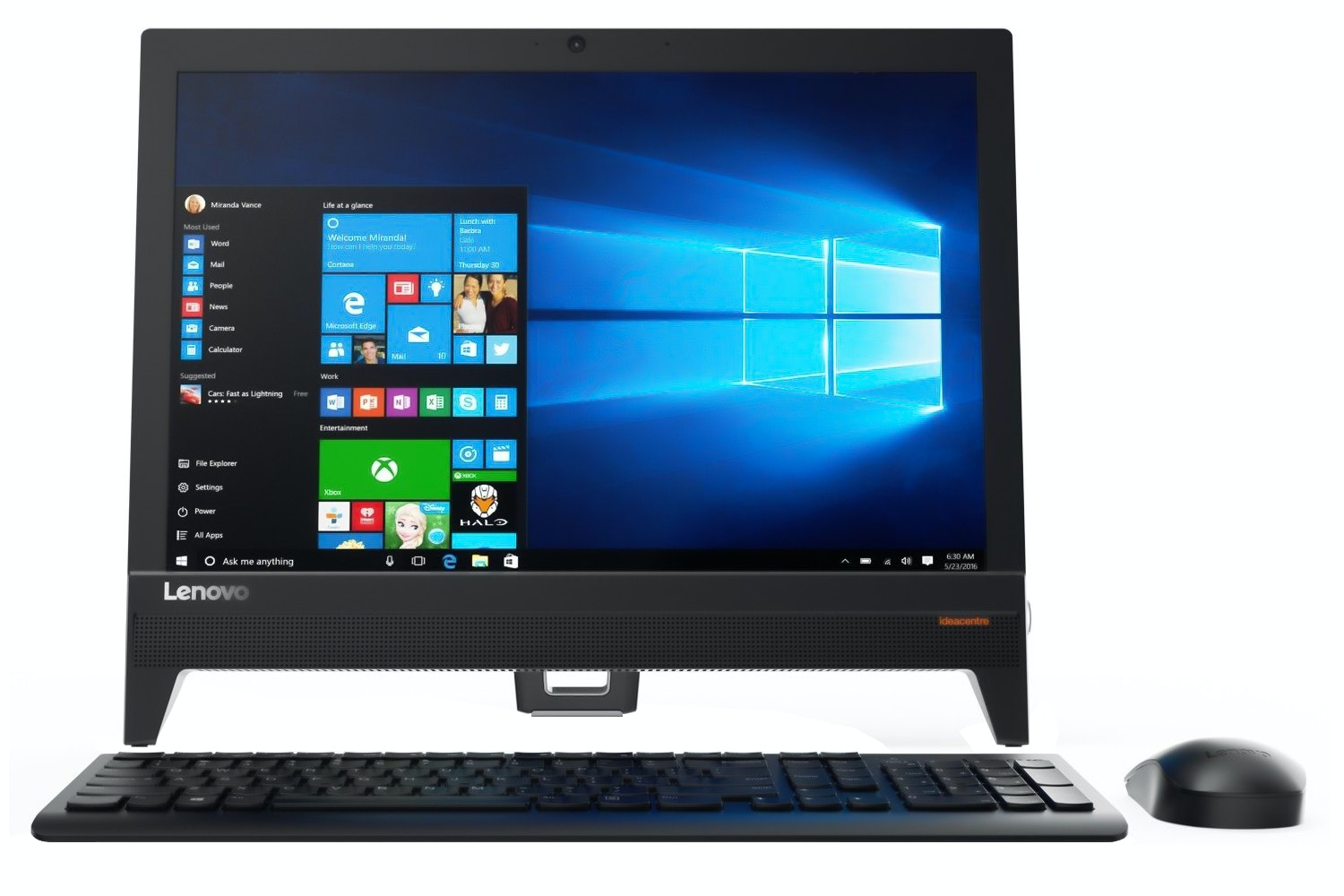 "Lenovo IdeaCentre 19.5"" All In One PC 