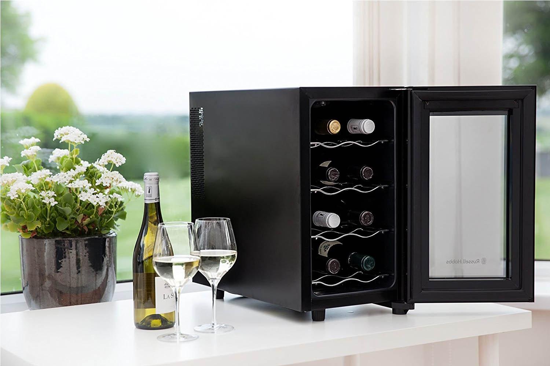 Russell Hobbs 8 Bottle Digital Wine Cooler | Black