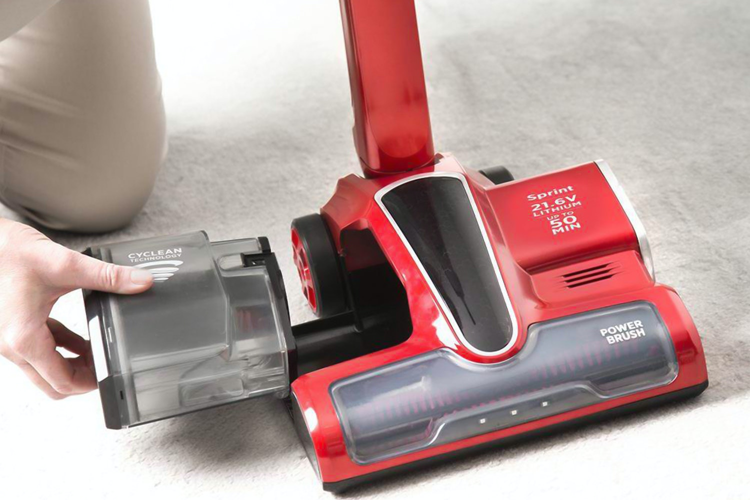 Hoover Sprint Cordless Stick Vacuum Cleaner Red Ireland