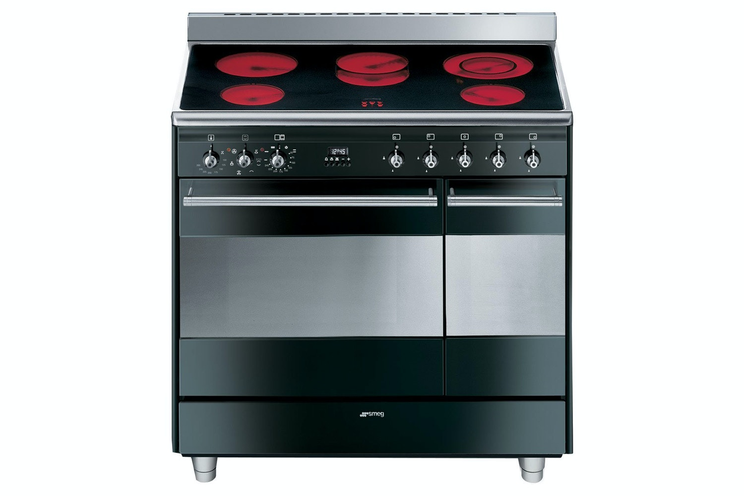 Smeg 90cm Electric Range Cooker | SUK92CBL9 | Black