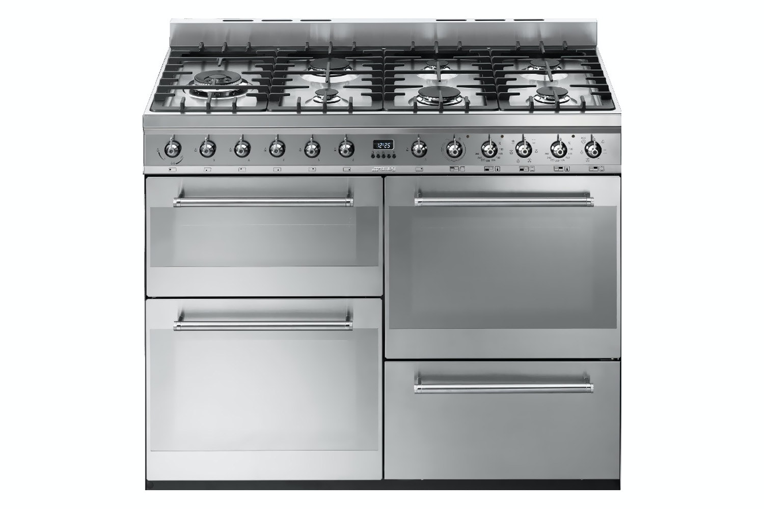 Smeg 110cm Dual Fuel Range Cooker |SYD4110 | Stainless Steel