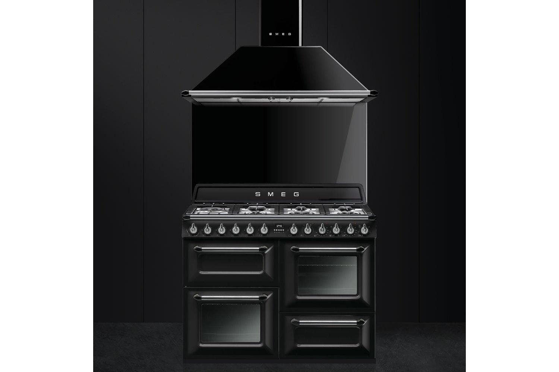 Smeg 110cm Dual Fuel Range Cooker | TR4110BL1 | Gloss Black