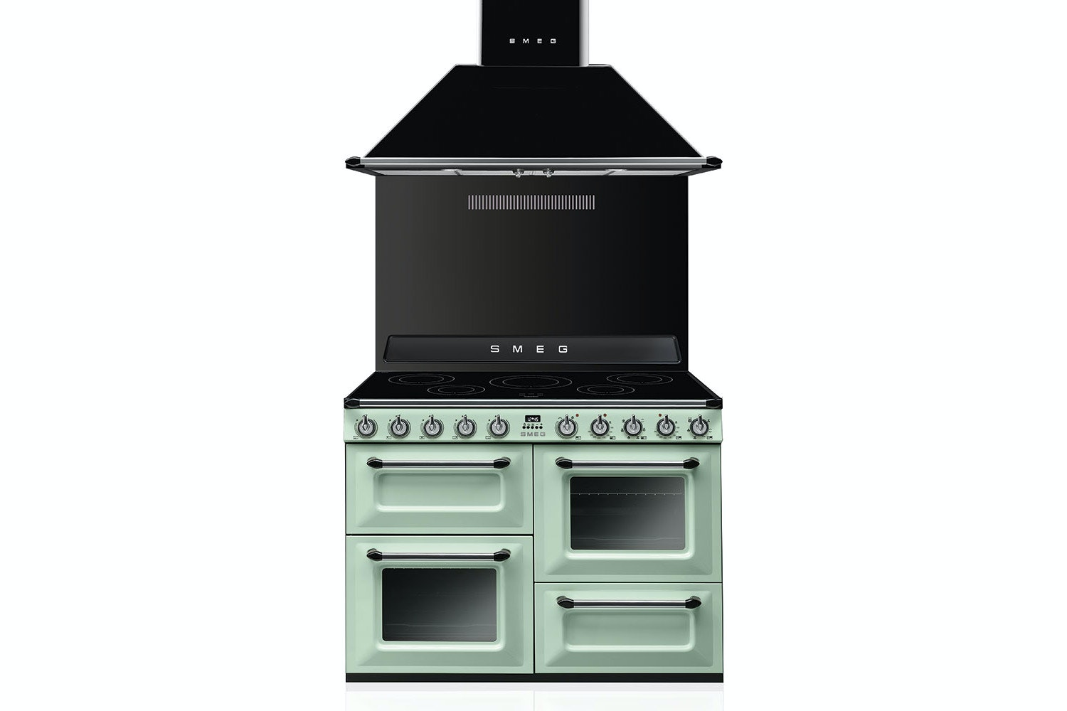 Smeg 110cm Electric Victoria Range Cooker | TR4110IPG | Pastel Green