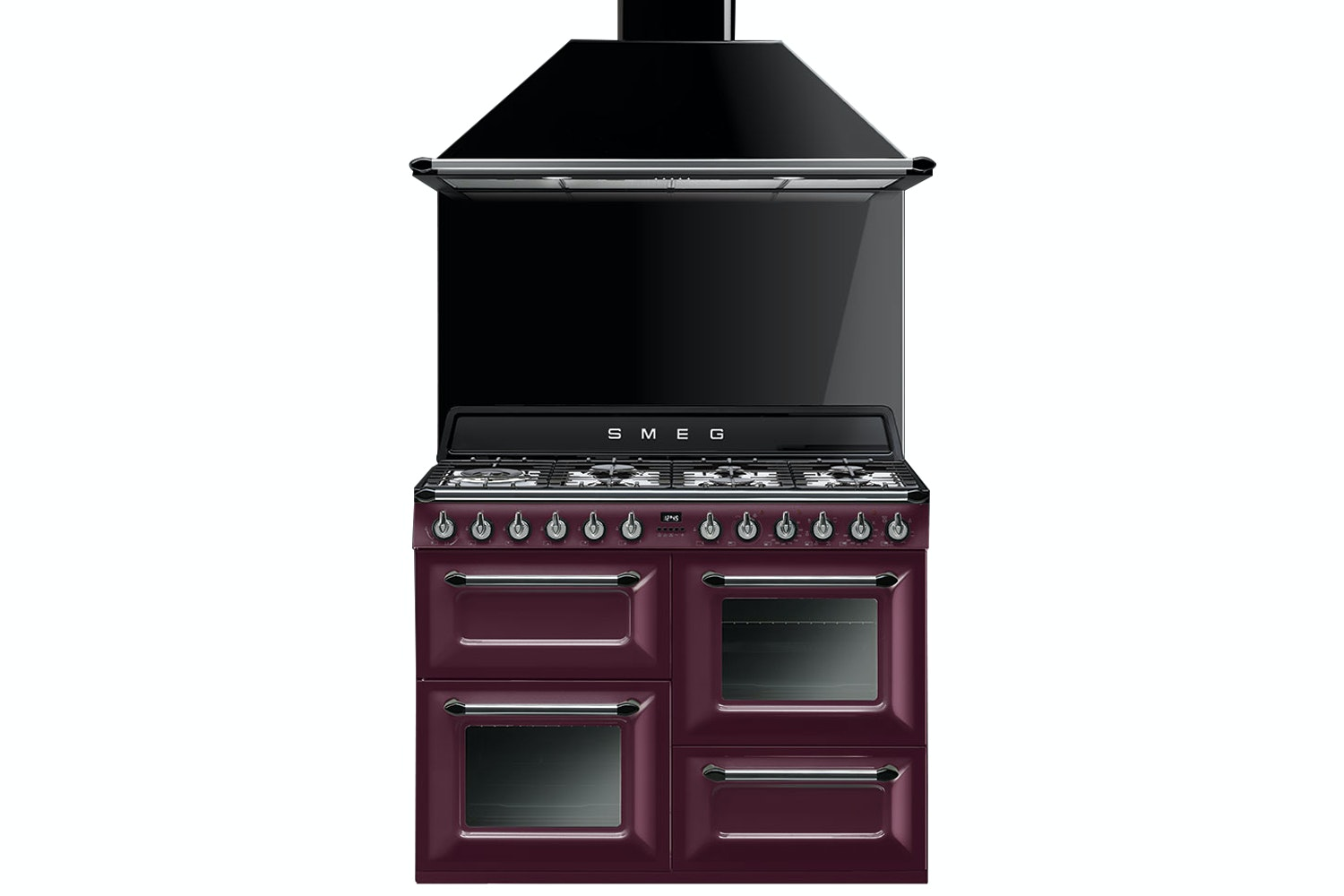 Smeg 110cm Dual Fuel Range Cooker | TR4110RW1 | Red Wine