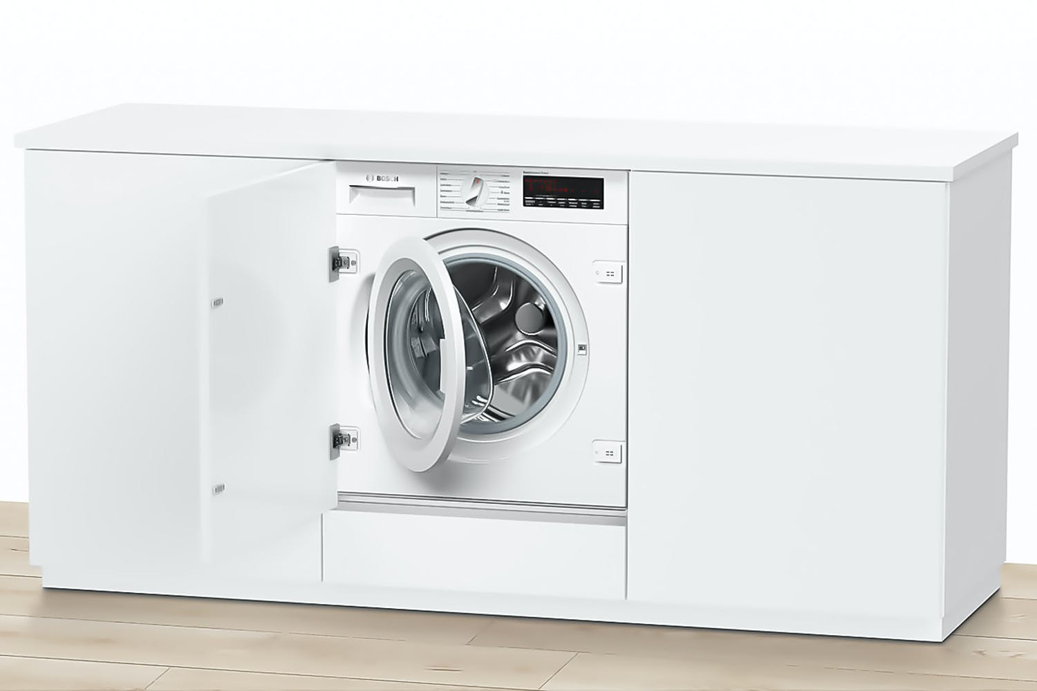 bosch series 8 8kg fully integrated automatic washing. Black Bedroom Furniture Sets. Home Design Ideas