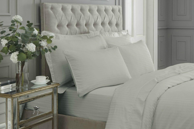 300 Thread Count Satin Stripe Pillowcase   2   Grey